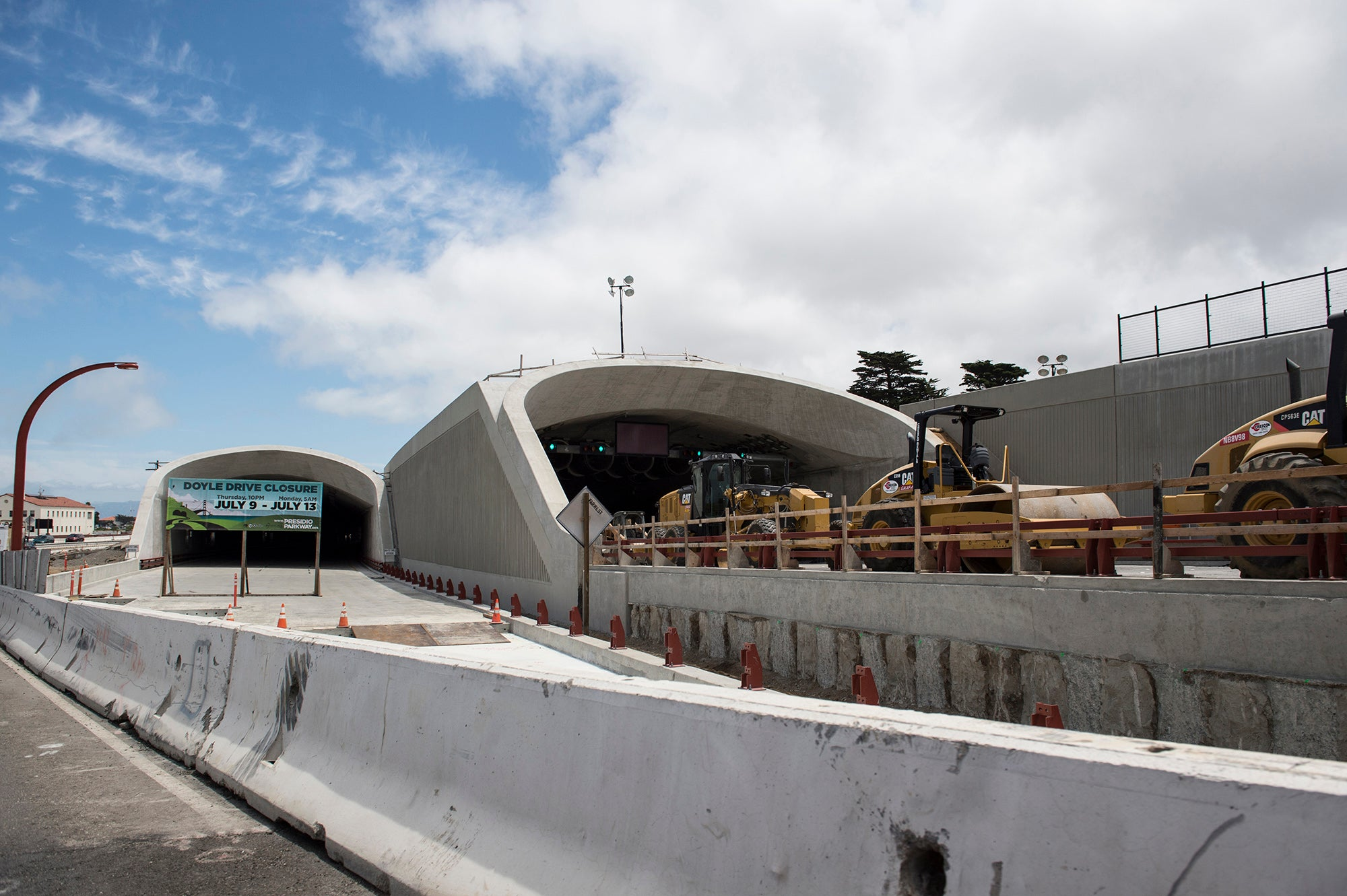 During the closure, crews will need to bust through barriers to connect the tunnels with active traffic lanes.