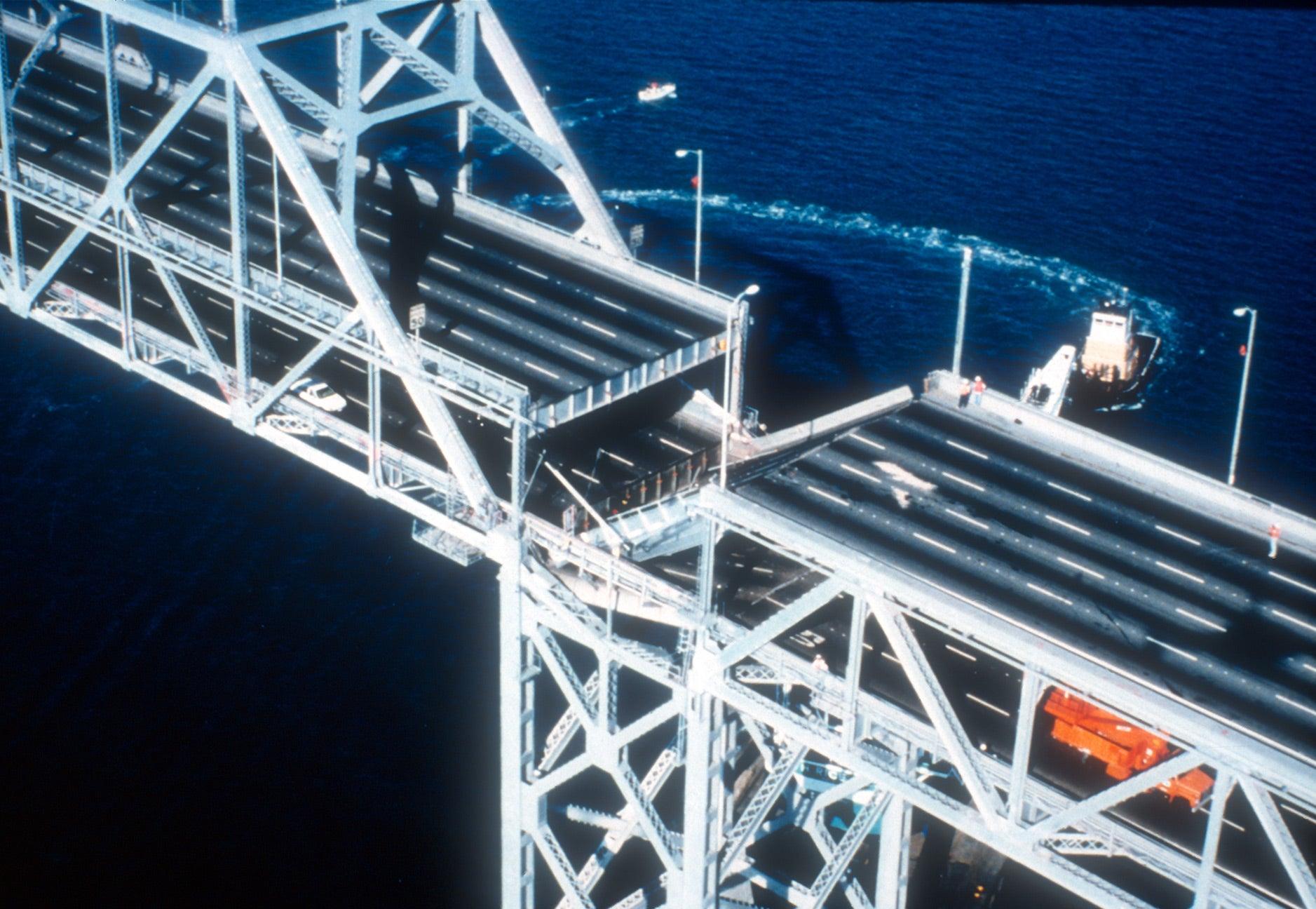 Loma Prieta fractured the upper deck of the Bay Bridge East Span.