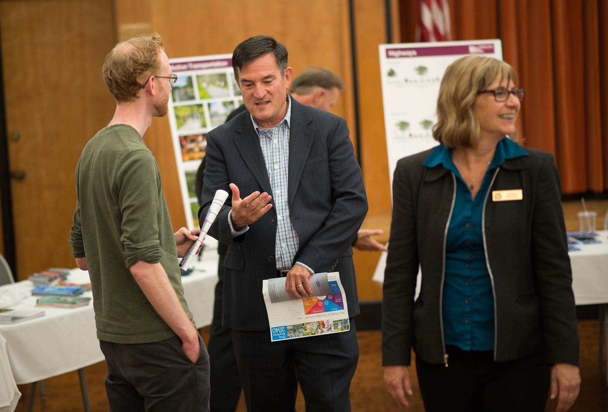 MTC Commissioner Mark Luce at Napa open house