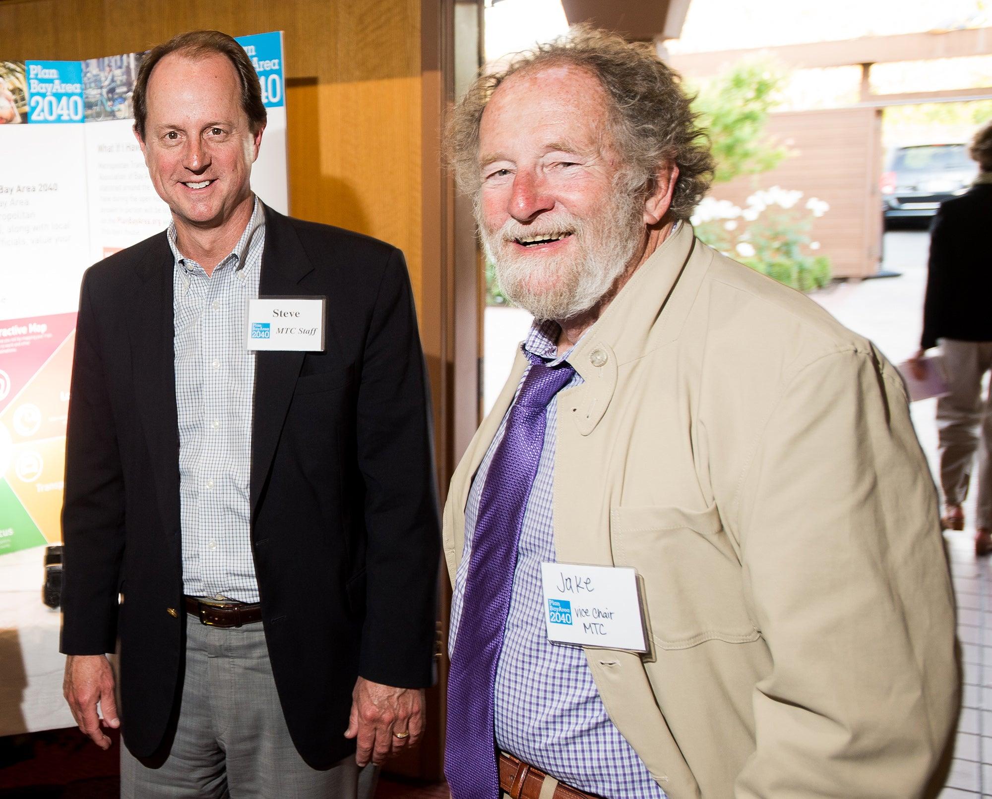 Steve Heminger and Jake Mackenzie at the Sonoma County open house