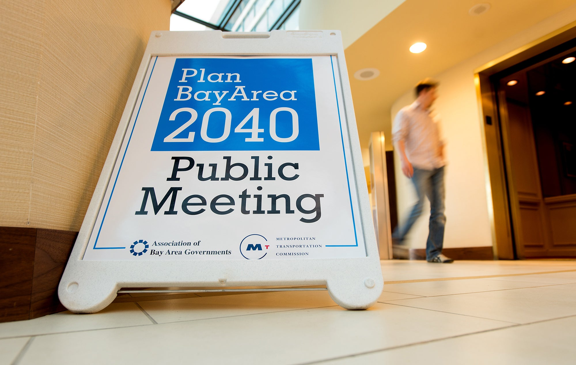 Plan Bay Area meeting sign