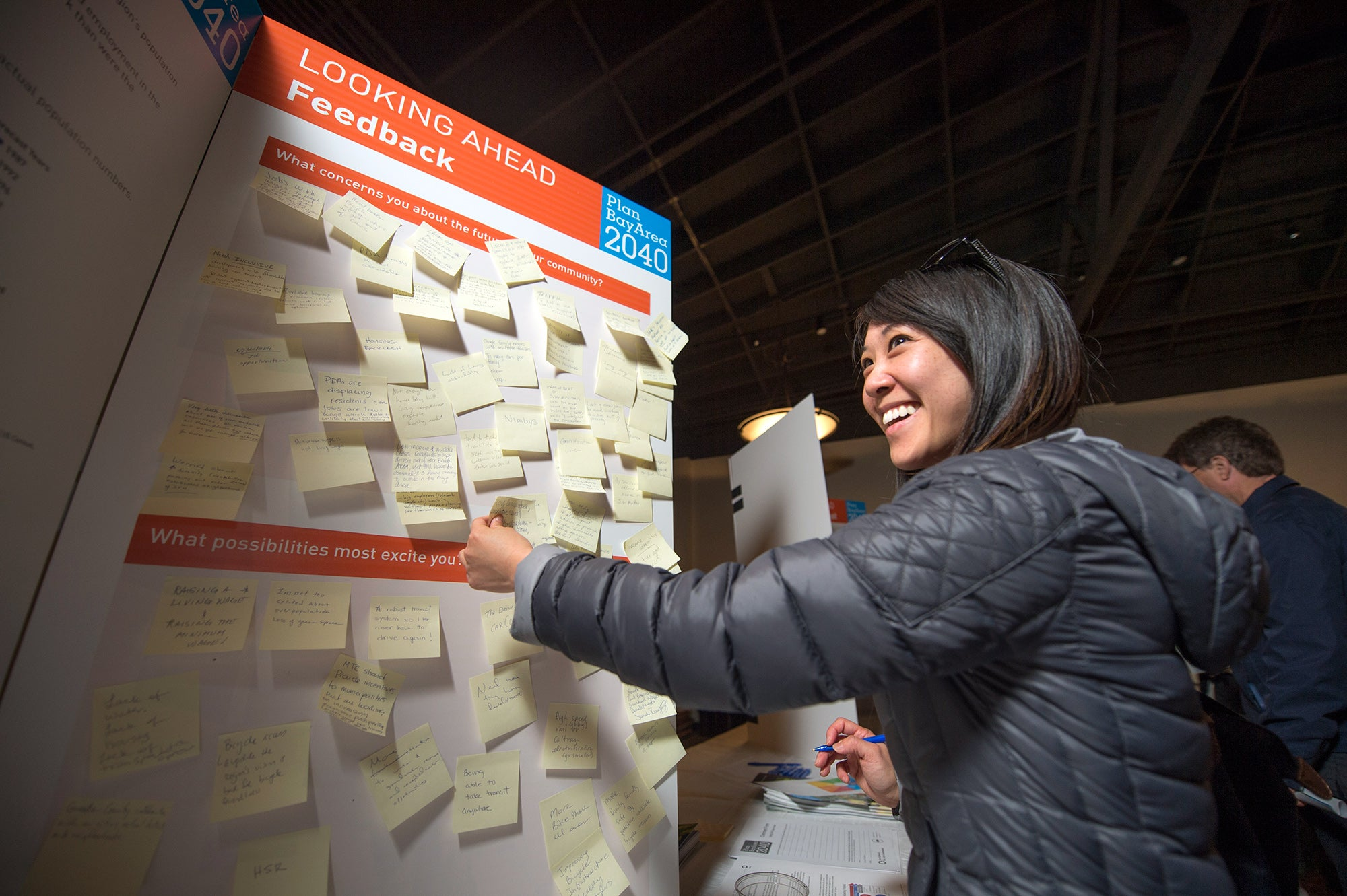 San Mateo open house participant leaves feedback