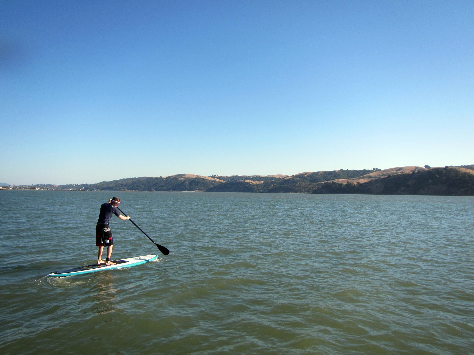Stand up paddler in Benicia