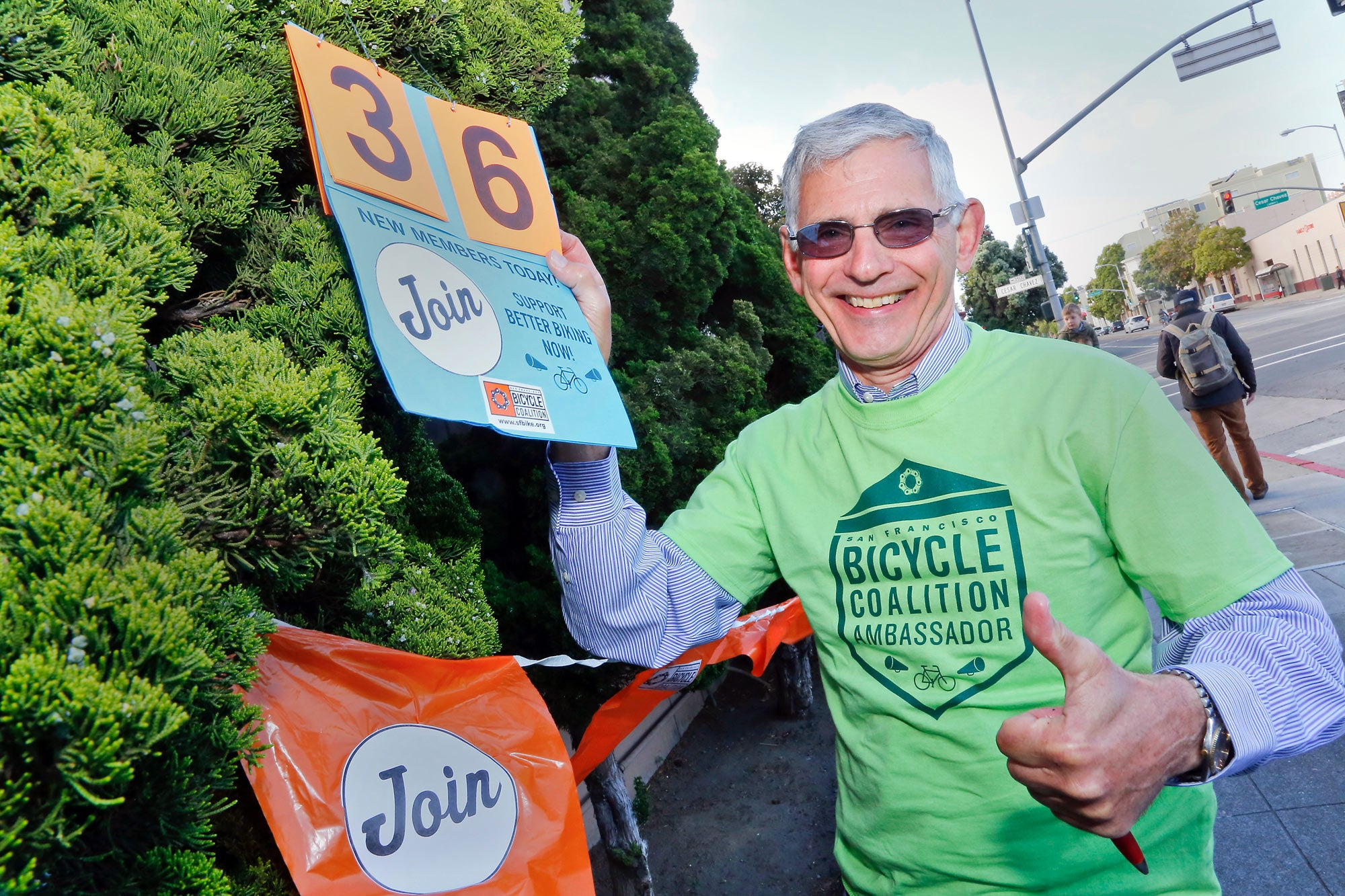 The SF Bicycle Coalition signed up dozens of new members during Bike to Work Day.