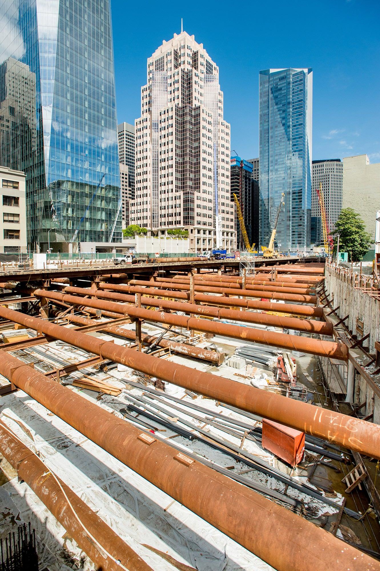 Transbay Transit Center construction