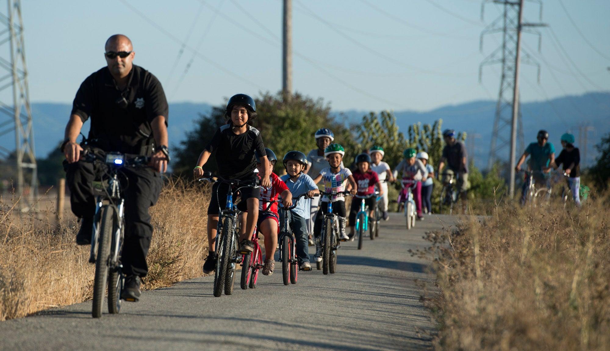 Family Biking Workshop in East Palo Alto