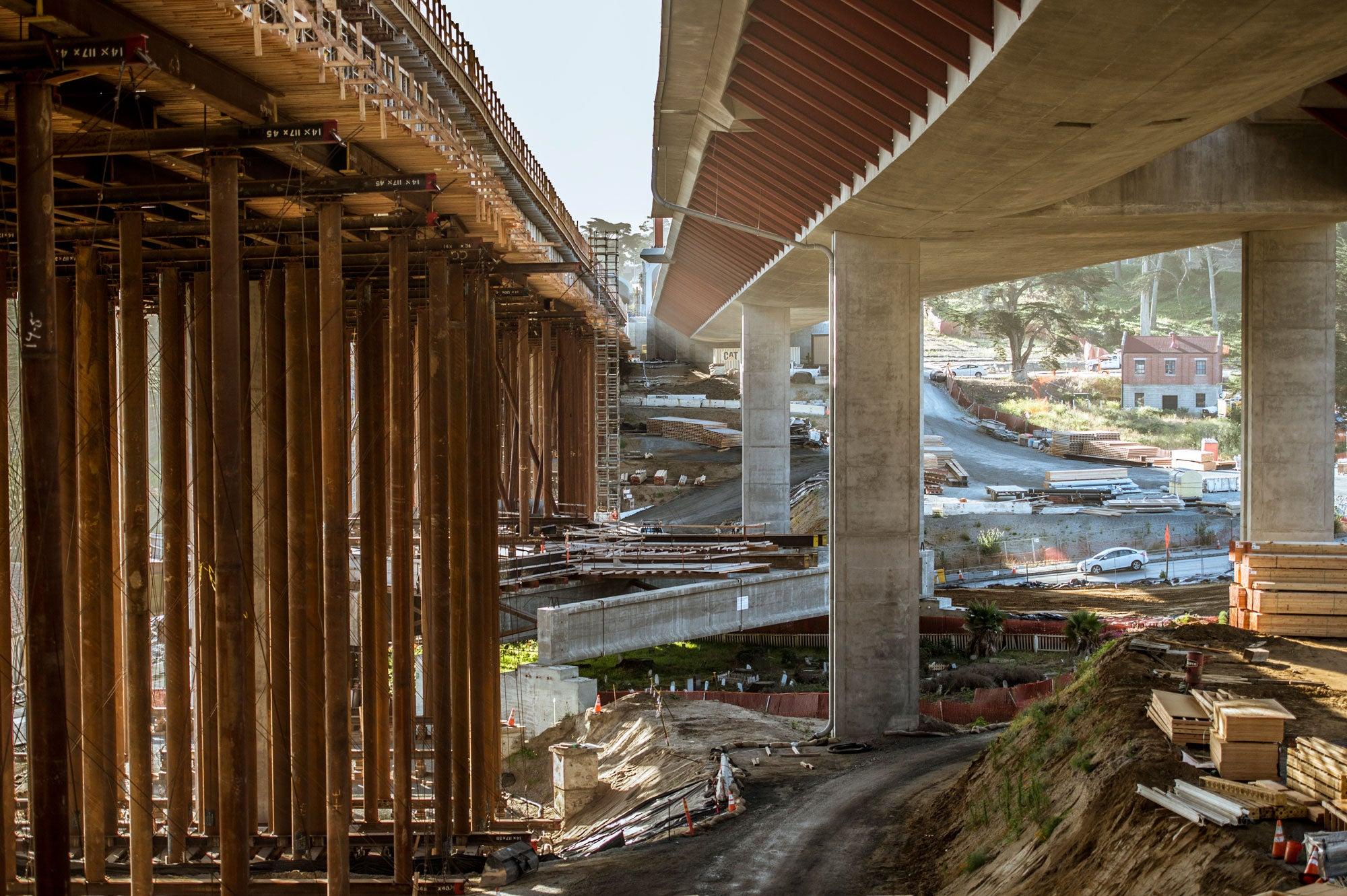 Presidio Parkway/Doyle Drive construction